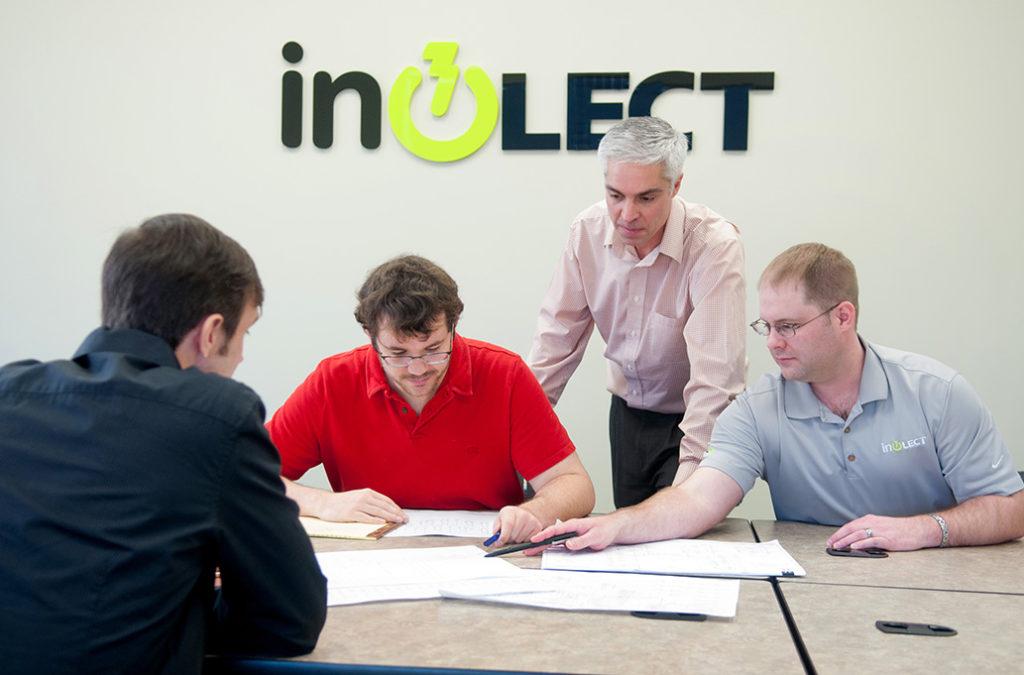 Brent Evans, Taylor Creekbaum and Daniel Brignac of inoLECT